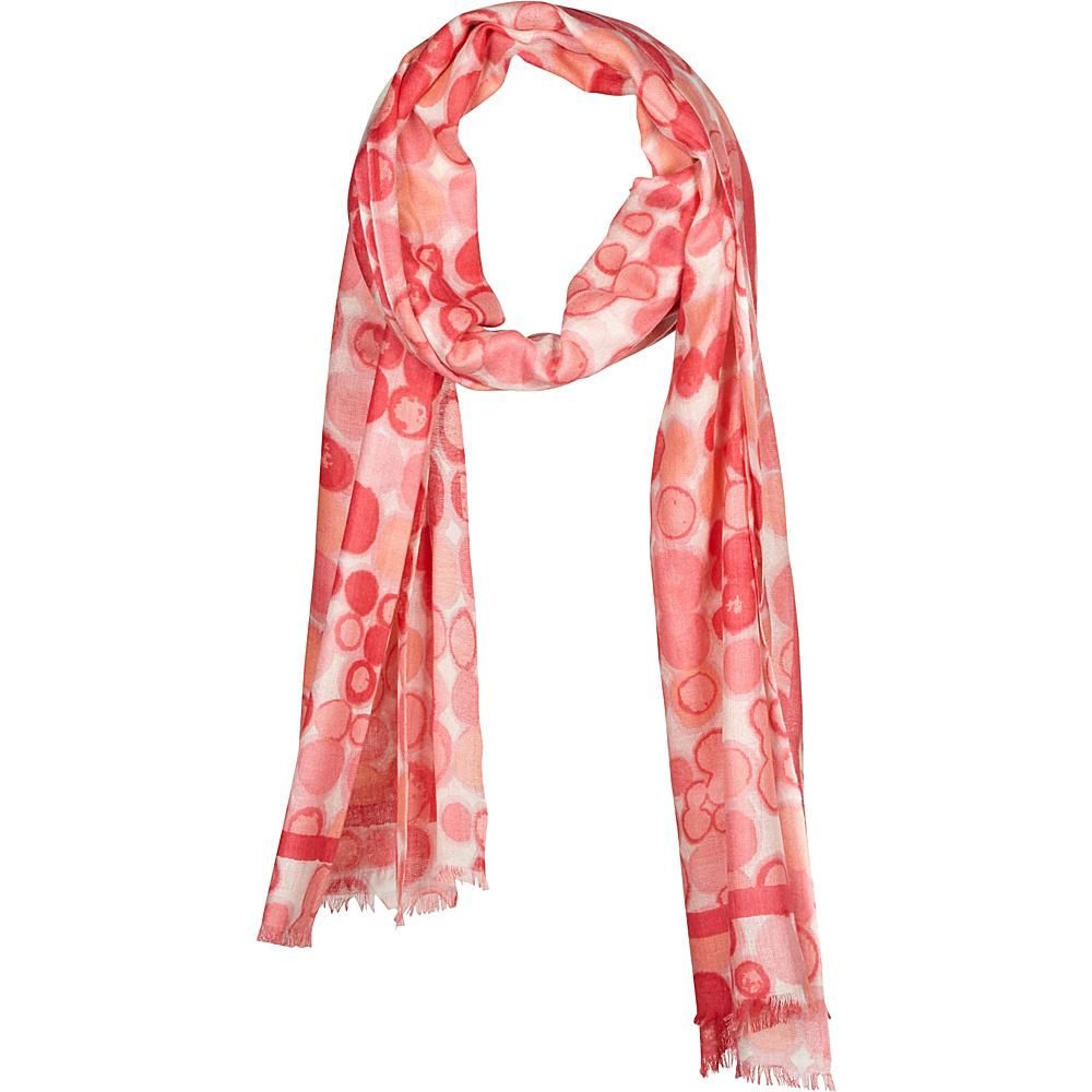 Kinross Cashmere Dot Print Scarf Quince Multi - Kinross Cashmere Hats/Gloves/Scarves - Fashion Accessories, Hats/Gloves/Scarves