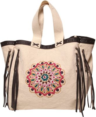 Ale by Alessandra Mandala Tote Natural - Ale by Alessandra Fabric Handbags