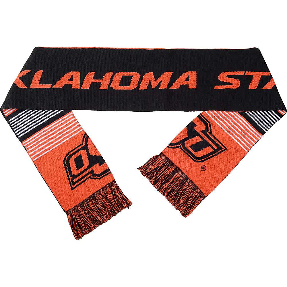 Forever Collectibles NCAA Reversible Split Logo Scarf Black Oklahoma State Cowboys Forever Collectibles Hats Gloves Scarves