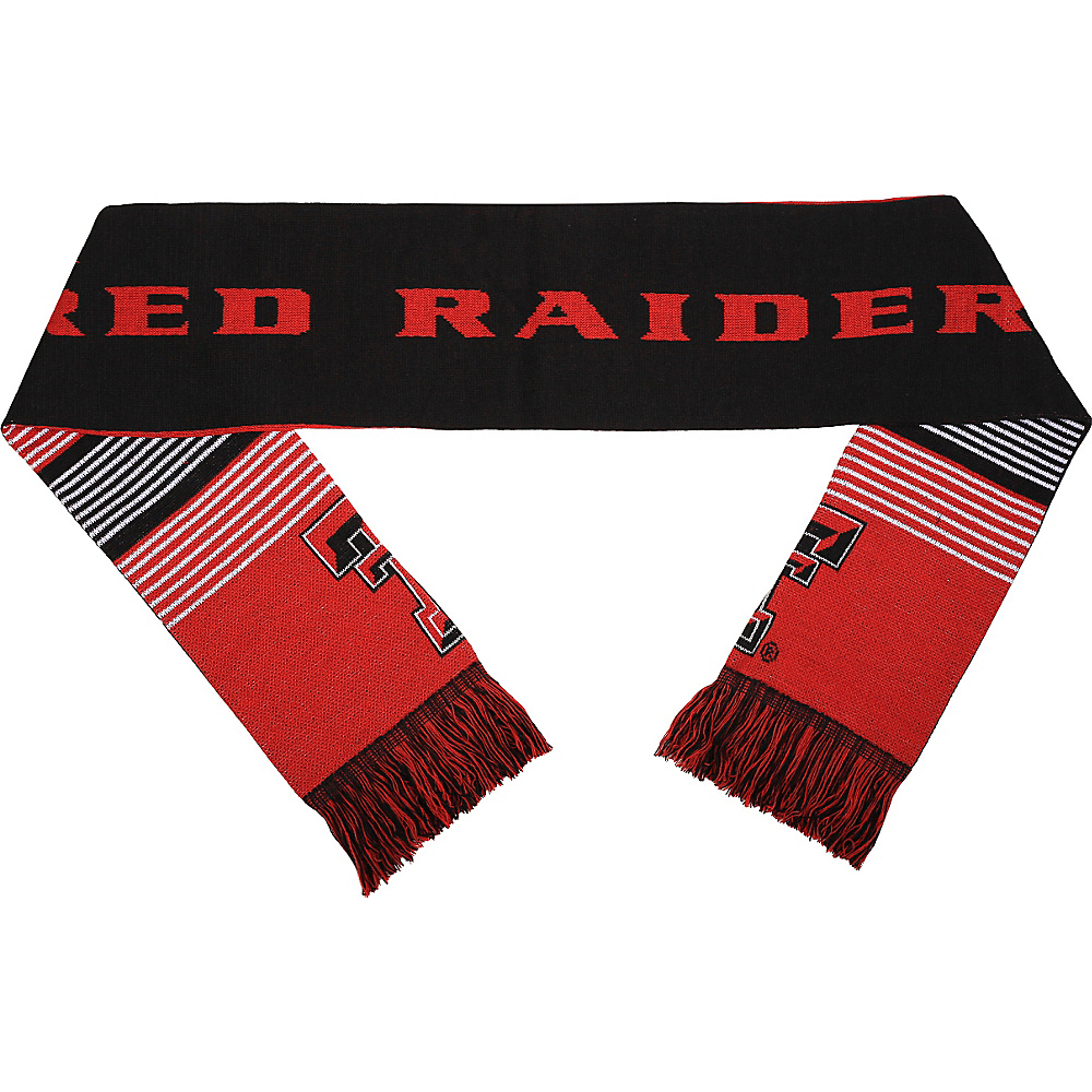 Forever Collectibles NCAA Reversible Split Logo Scarf Red Texas Tech University Red Raiders Forever Collectibles Hats Gloves Scarves