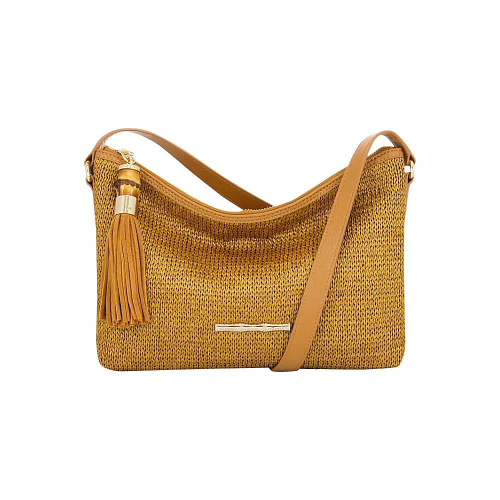 Elaine Turner Finley Raffia Crossbody Tobacco Raffia Elaine Turner Designer Handbags