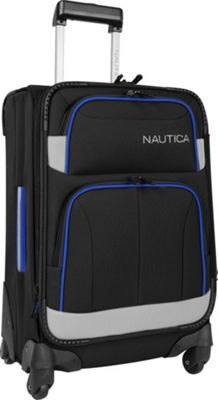 Nautica Shipline 20 inch Expandable Spinner Blk/Gry/Cbbl - Nautica Softside Carry-On
