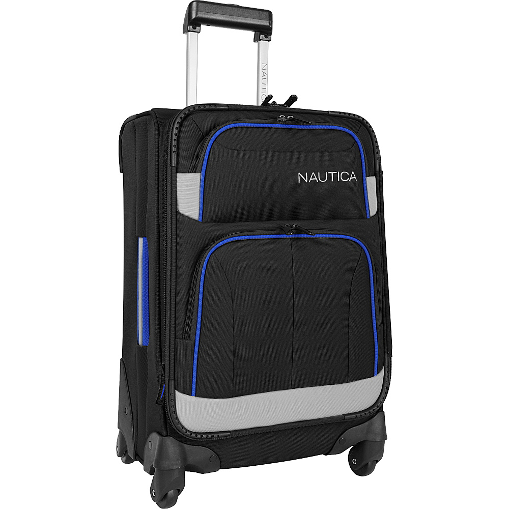 "Nautica Shipline 20"" Expandable Spinner Blk/Gry/Cbbl - Nautica Softside Carry-On"