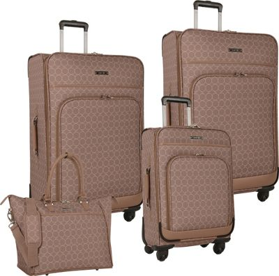 Nine West Luggage Allea 4 Piece Set Taupe - Nine West Luggage Luggage Sets