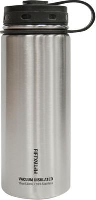 FIFTY/FIFTY Vacuum-Insulated Bottle-18oz Stainless Steel - FIFTY/FIFTY Hydration Packs and Bottles