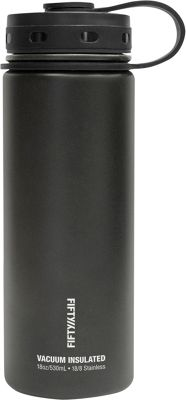 FIFTY/FIFTY Vacuum-Insulated Bottle-18oz Matte Black - FIFTY/FIFTY Hydration Packs and Bottles