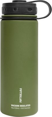 FIFTY/FIFTY Vacuum-Insulated Bottle-18oz Olive Green - FIFTY/FIFTY Hydration Packs and Bottles