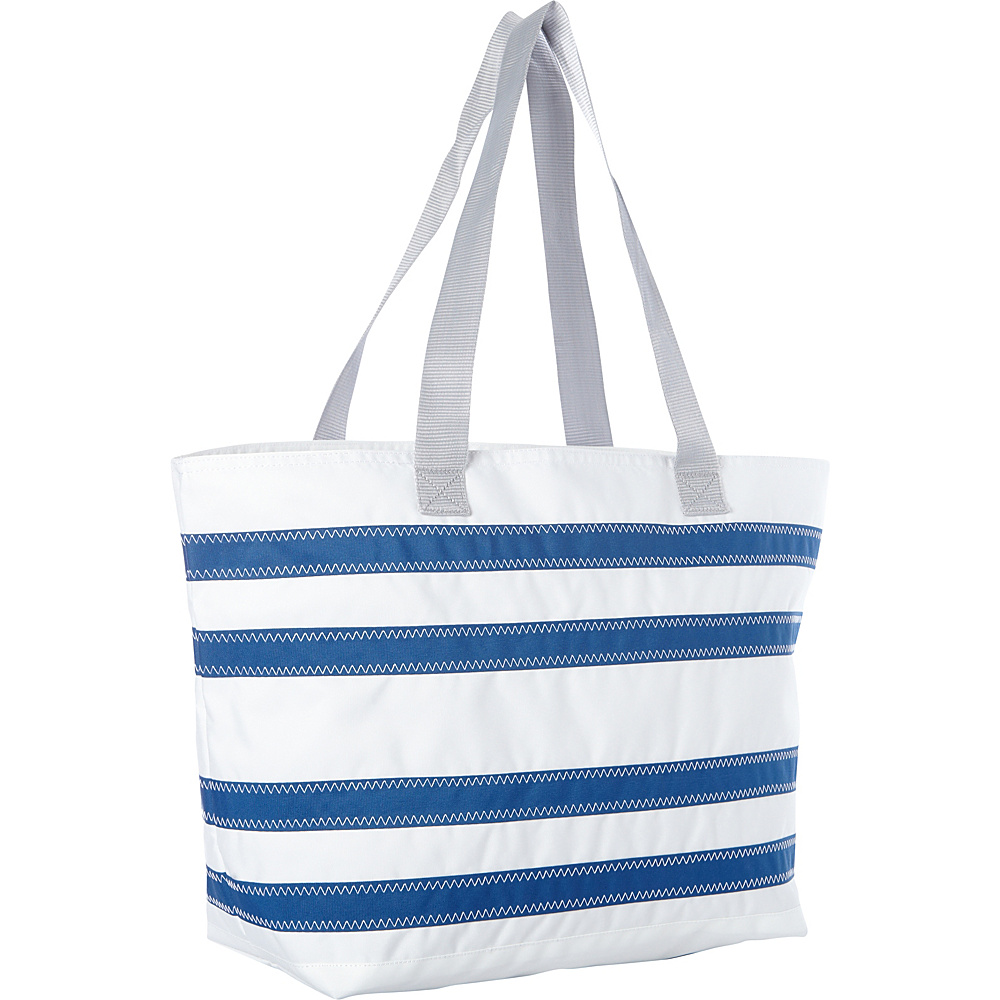 SailorBags Nautical Stripe Large Tote White with Blue Stripes SailorBags All Purpose Totes