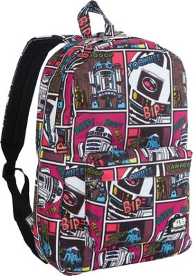 Loungefly Star Wars R2-D2 Comic Print Backpack Pink/Multi - Loungefly Everyday Backpacks