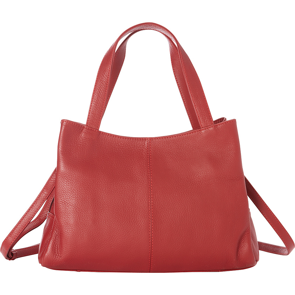Derek Alexander Medium Satchel, Removable Shoulder Strap Red - Derek Alexander Leather Handbags - Handbags, Leather Handbags