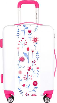 Ugobags Hayfever Nic Squirrel 26.5 inch Luggage White Hayfever - Ugobags Hardside Checked