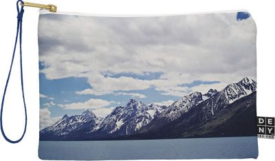 Deny Designs Leah Flores Pouch Ice Blue - Grand Tetons x Colter Bay - Deny Designs Travel Wallets