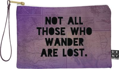 Deny Designs Leah Flores Pouch Deep Purple -  Those Who Wander - Deny Designs Travel Wallets