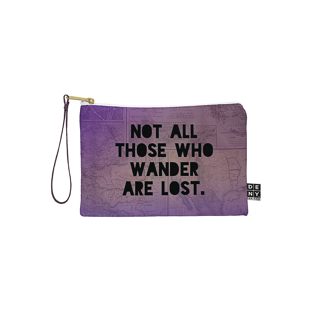 DENY Designs Leah Flores Pouch Deep Purple Those Who Wander DENY Designs Travel Wallets