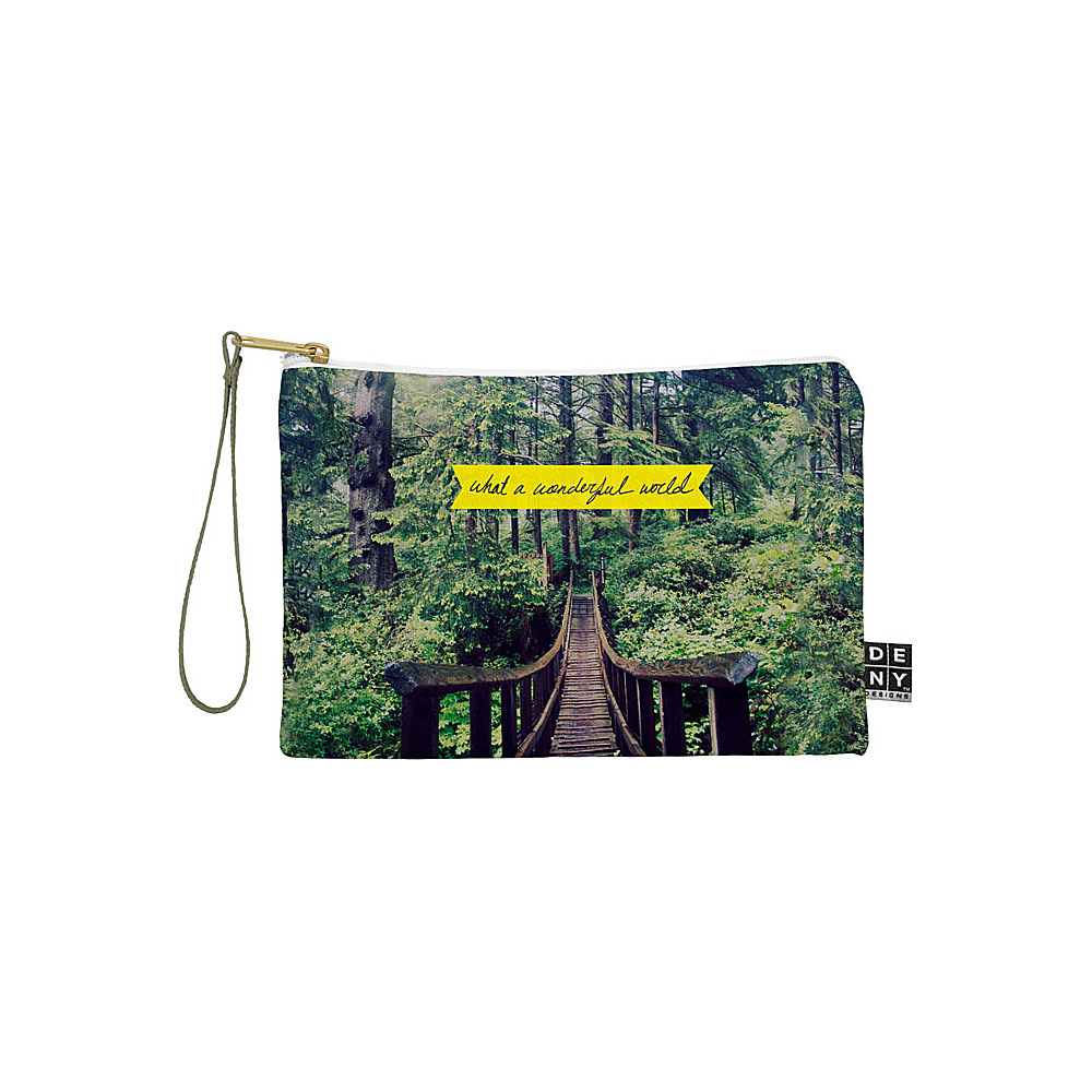 DENY Designs Leah Flores Pouch Forest Green What a Wonderful World DENY Designs Travel Wallets