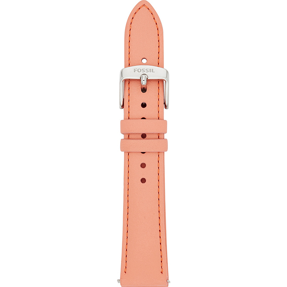 Fossil 18mm Leather Watch Strap Pink - Fossil Watches - Fashion Accessories, Watches