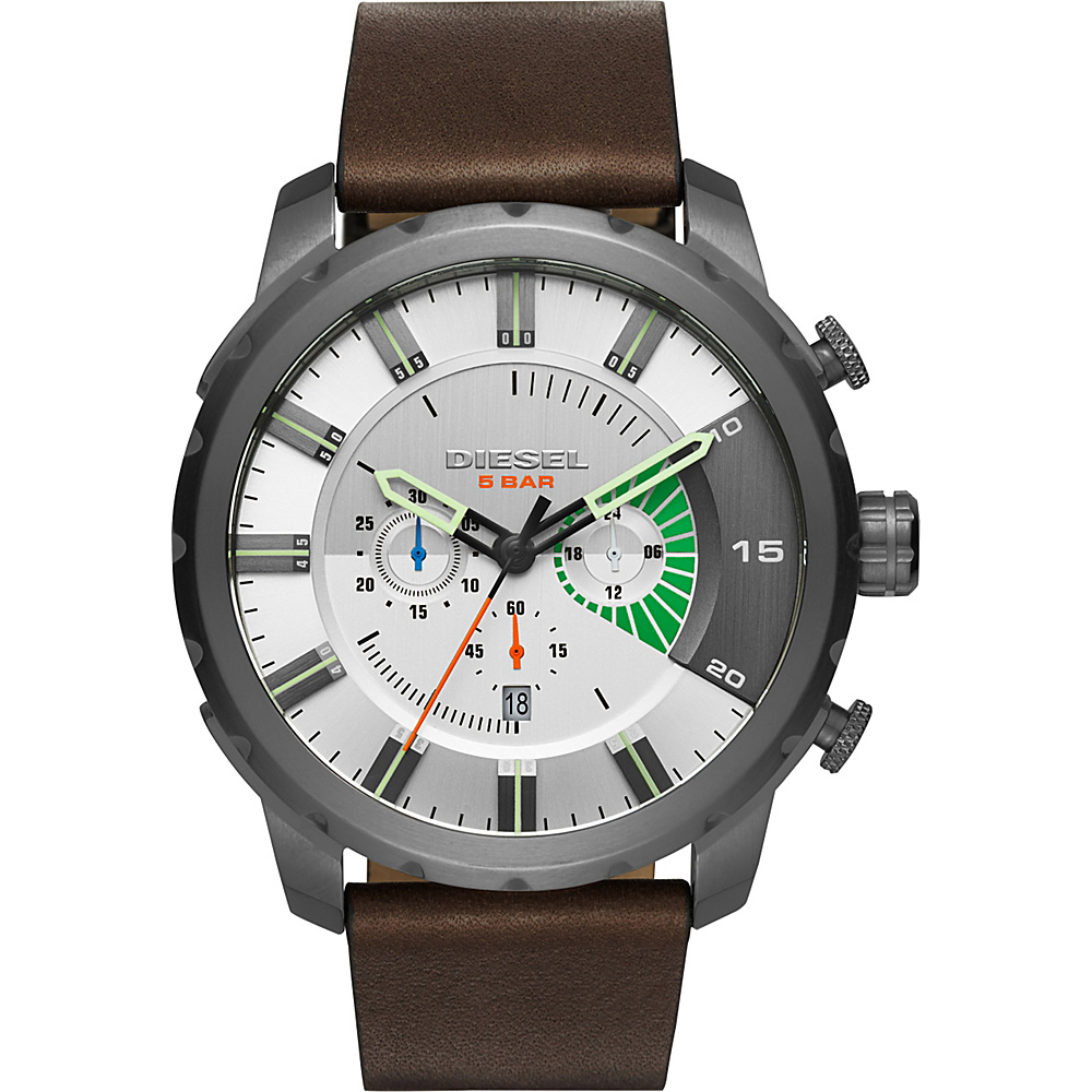 Diesel Watches Stronghold Leather Watch Green - Diesel Watches Watches