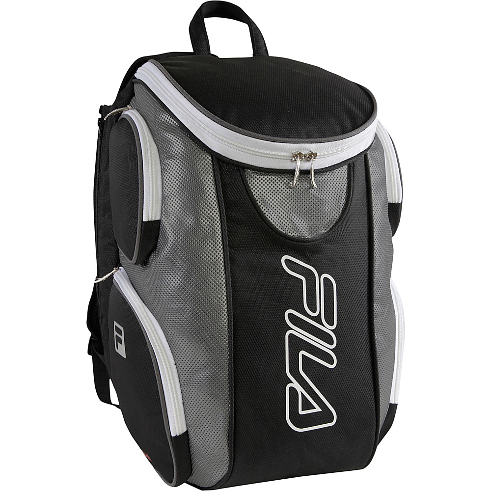 Fila Ultimate Tennis Backpack with Shoe Pocket Black Grey Fila Other Sports Bags