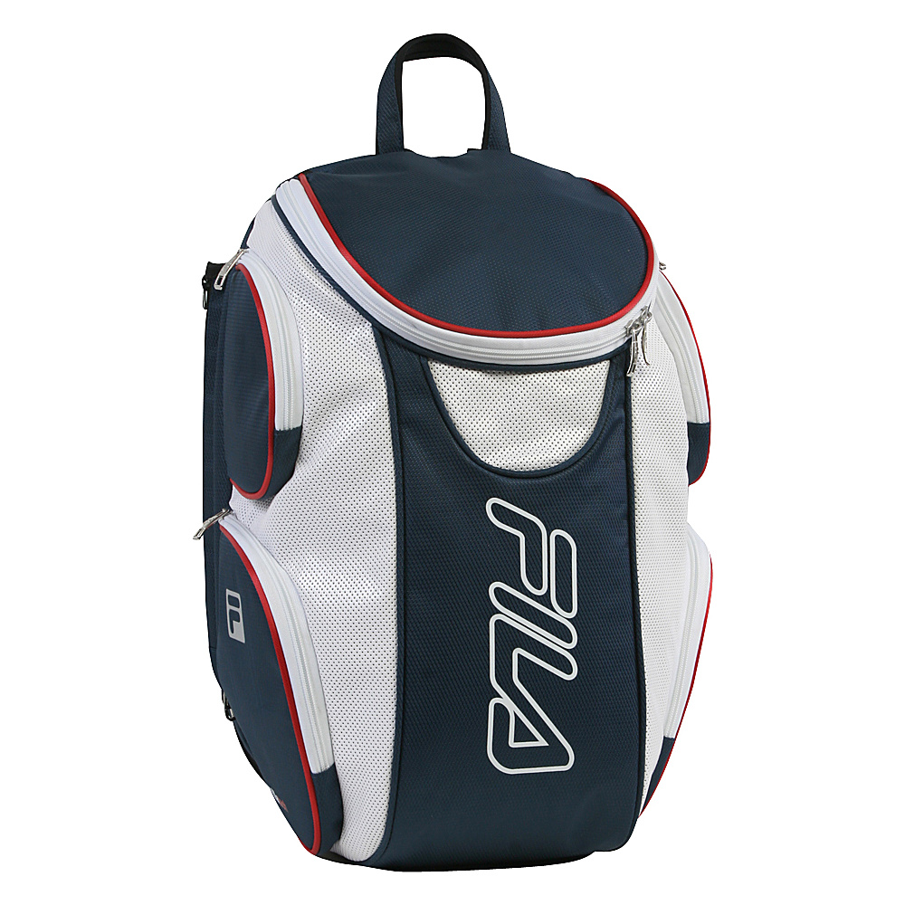 Fila Ultimate Tennis Backpack with Shoe Pocket Red White Blue Fila Other Sports Bags