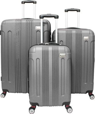 American Green Travel Plateau ll Hardside 3-Piece Spinner Luggage Set Silver - American Green Travel Luggage Sets