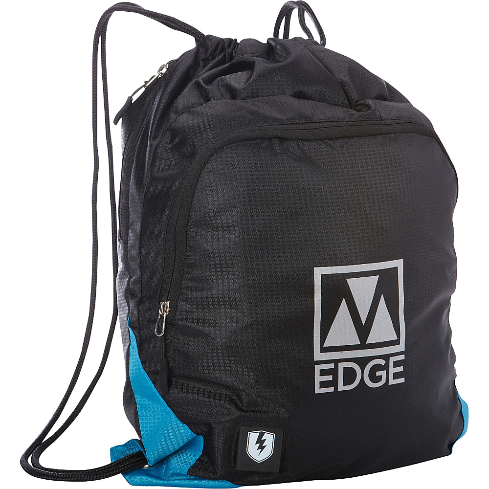 M Edge Sack Pack with Battery Black Blue M Edge Everyday Backpacks