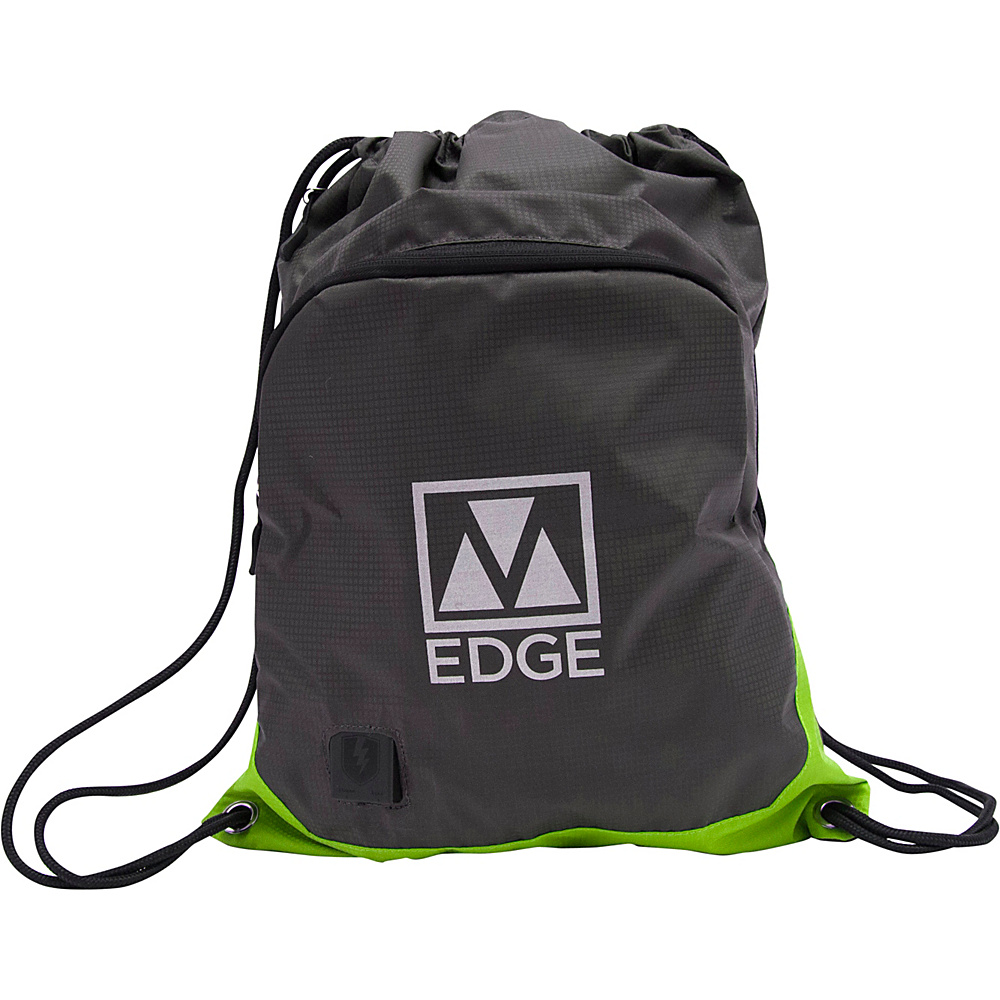 M Edge Sack Pack With Battery Grey/lime M Edge Everyday Backpacks