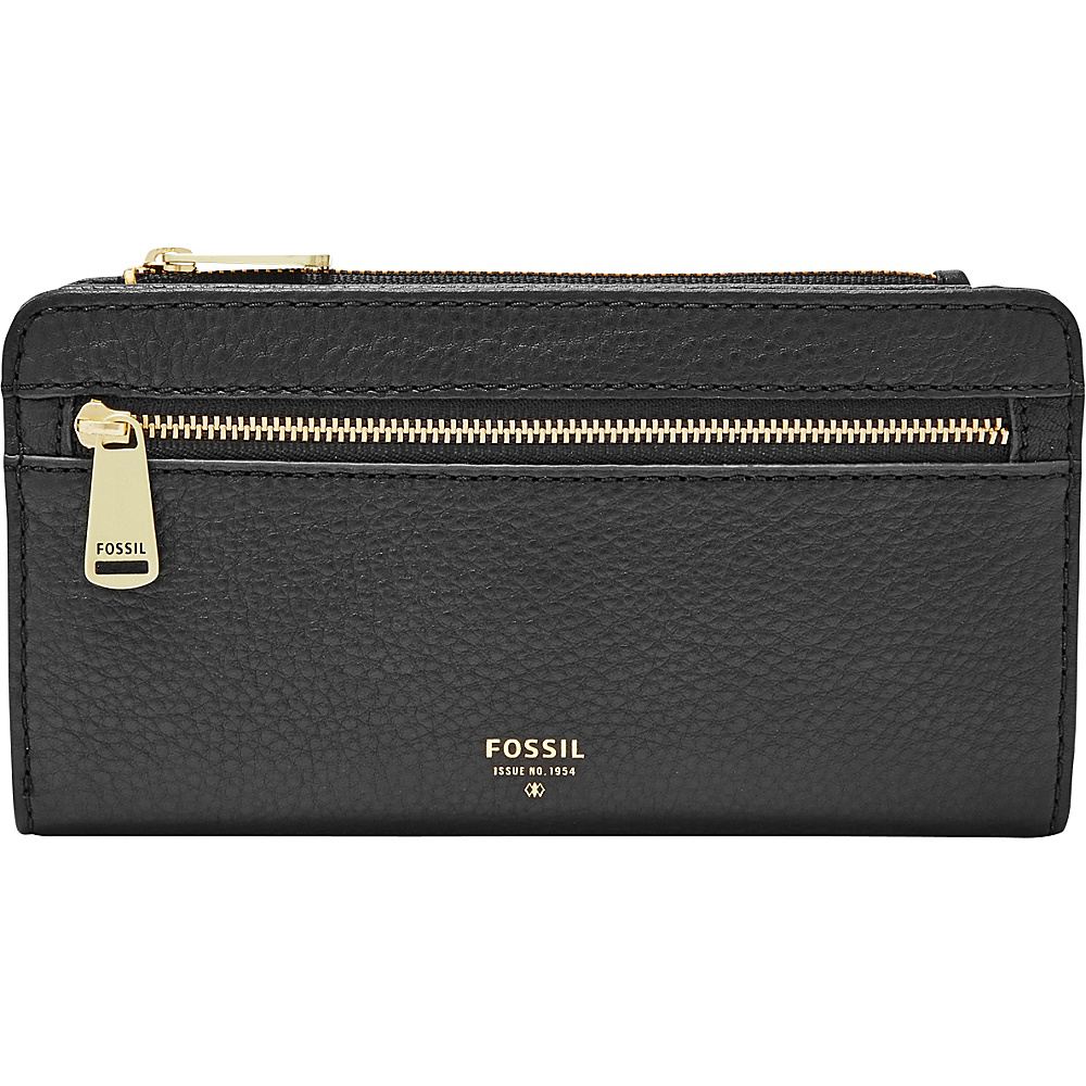 Fossil Preston Zip Clutch Black - Fossil Womens Wallets - Women's SLG, Women's Wallets