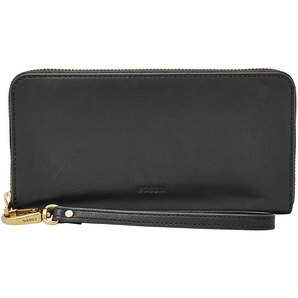 Fossil Emma RFID Large Zip Clutch Black - Fossil Womens Wallets - Women's SLG, Women's Wallets