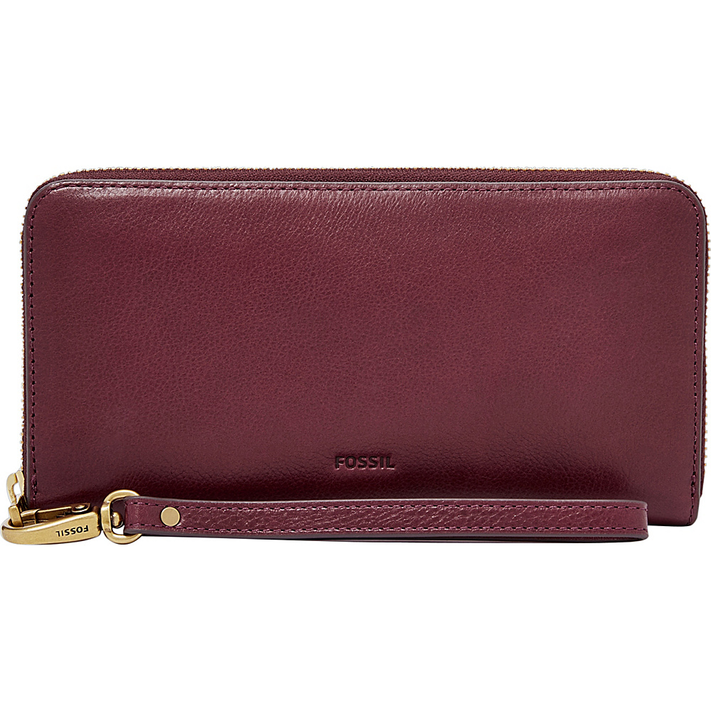 Fossil Emma RFID Large Zip Clutch Cabernet - Fossil Womens Wallets - Women's SLG, Women's Wallets