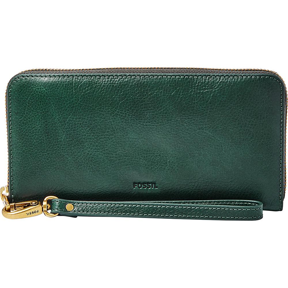 Fossil Emma RFID Large Zip Clutch Alpine Green - Fossil Womens Wallets - Women's SLG, Women's Wallets