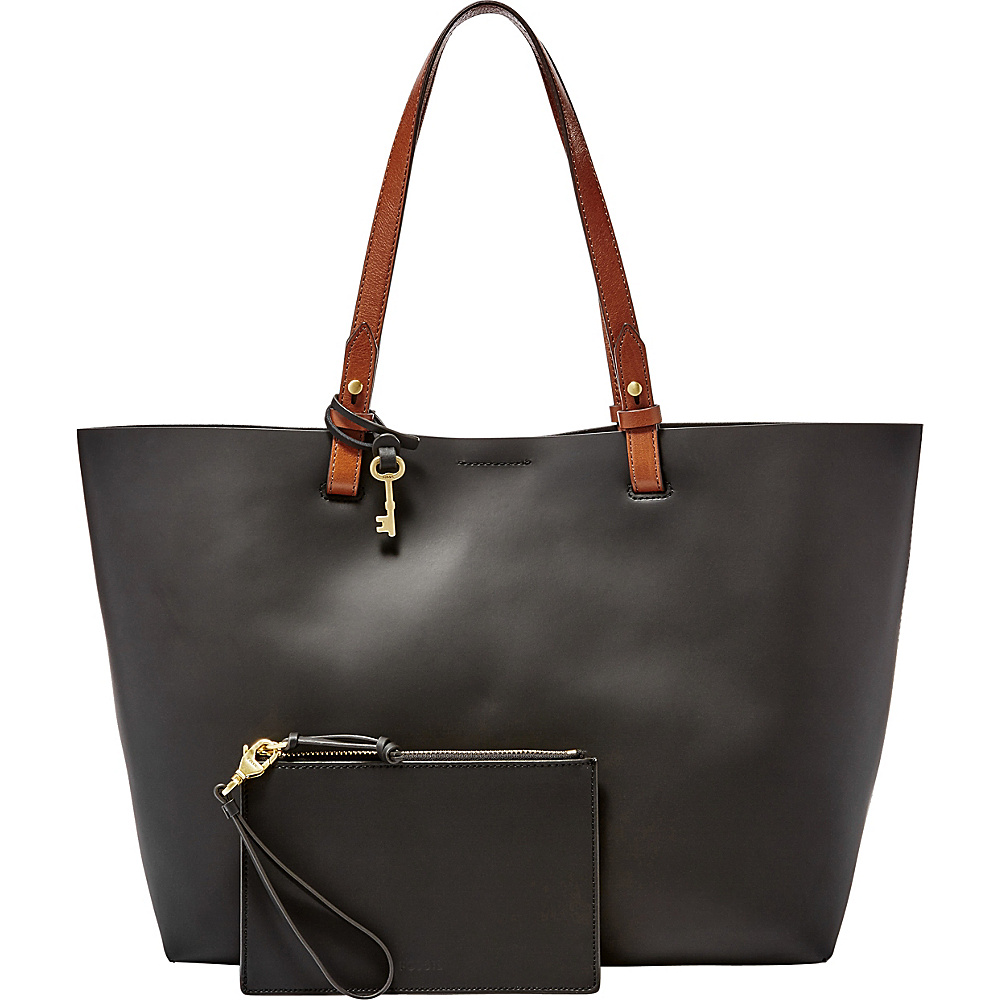 Fossil Rachel Tote Black - Fossil Leather Handbags - Handbags, Leather Handbags