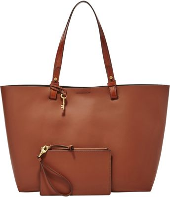 Fossil Rachel Tote Brown - Fossil Leather Handbags