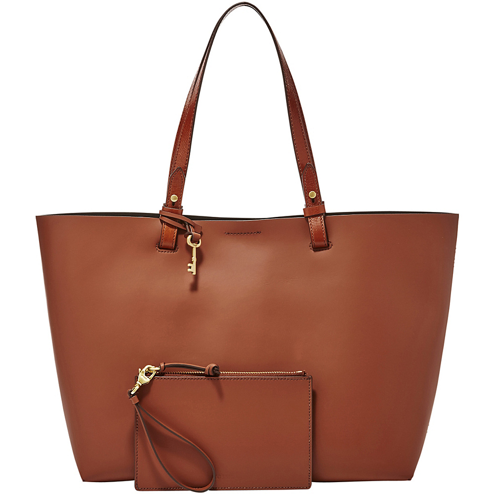 Fossil Rachel Tote Brown - Fossil Leather Handbags - Handbags, Leather Handbags