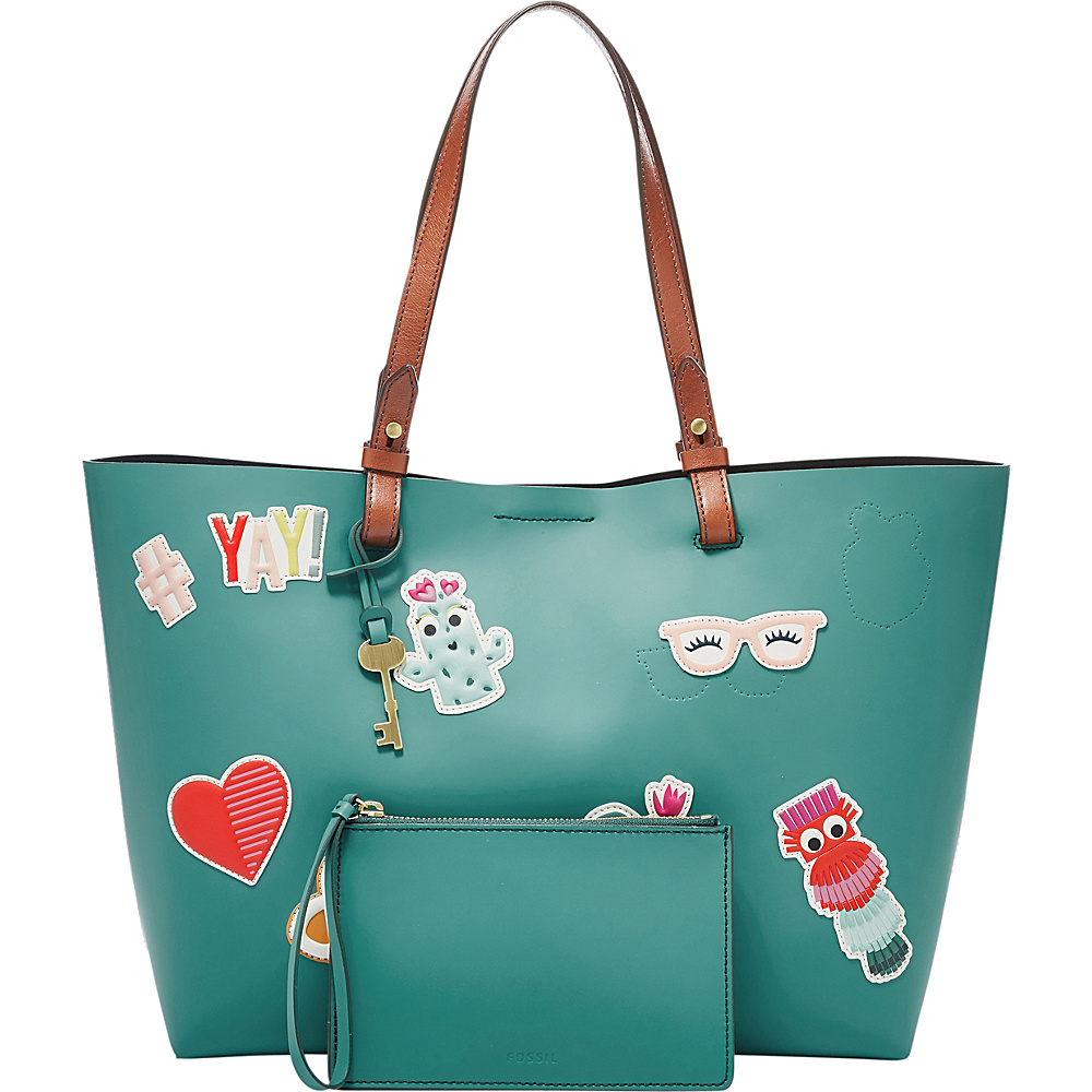 Fossil Rachel Tote Teal Green - Fossil Leather Handbags - Handbags, Leather Handbags