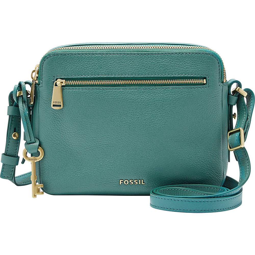 Fossil Piper Toaster Crossbody Teal Green - Fossil Leather Handbags - Handbags, Leather Handbags