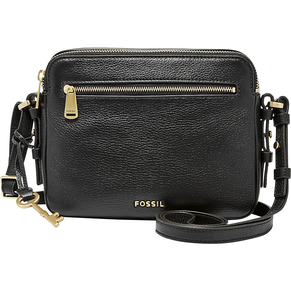 Fossil Piper Toaster Crossbody Black - Fossil Leather Handbags - Handbags, Leather Handbags