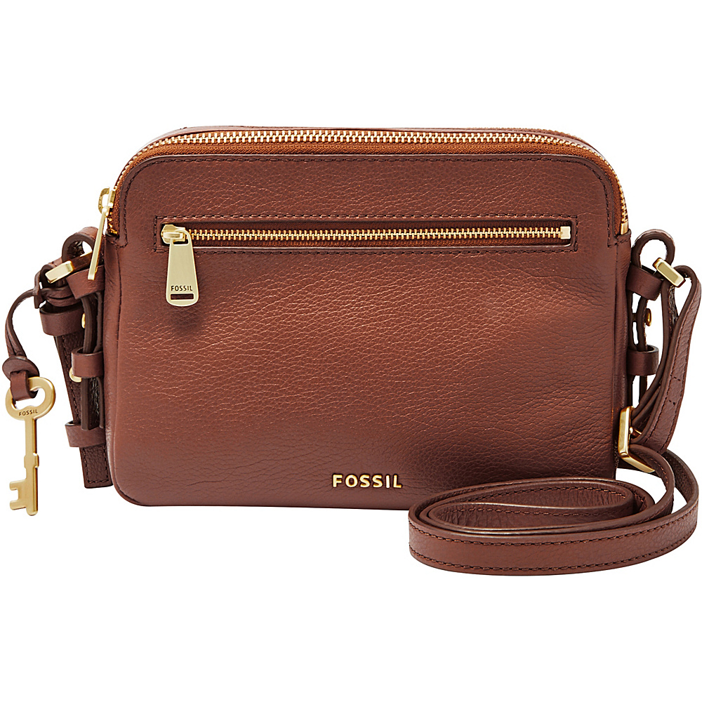 Fossil Piper Toaster Crossbody Brown - Fossil Leather Handbags - Handbags, Leather Handbags