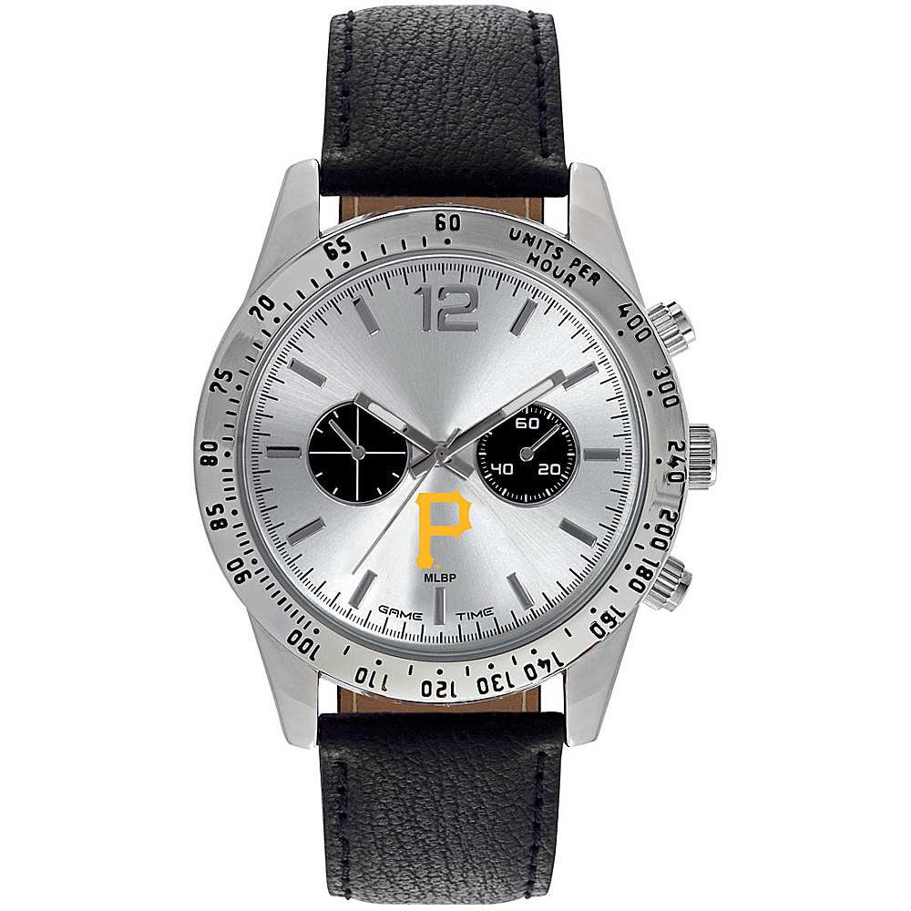 Game Time Mens Letterman-MLB Watch Pittsburgh Pirates P Logo - Game Time Watches - Fashion Accessories, Watches