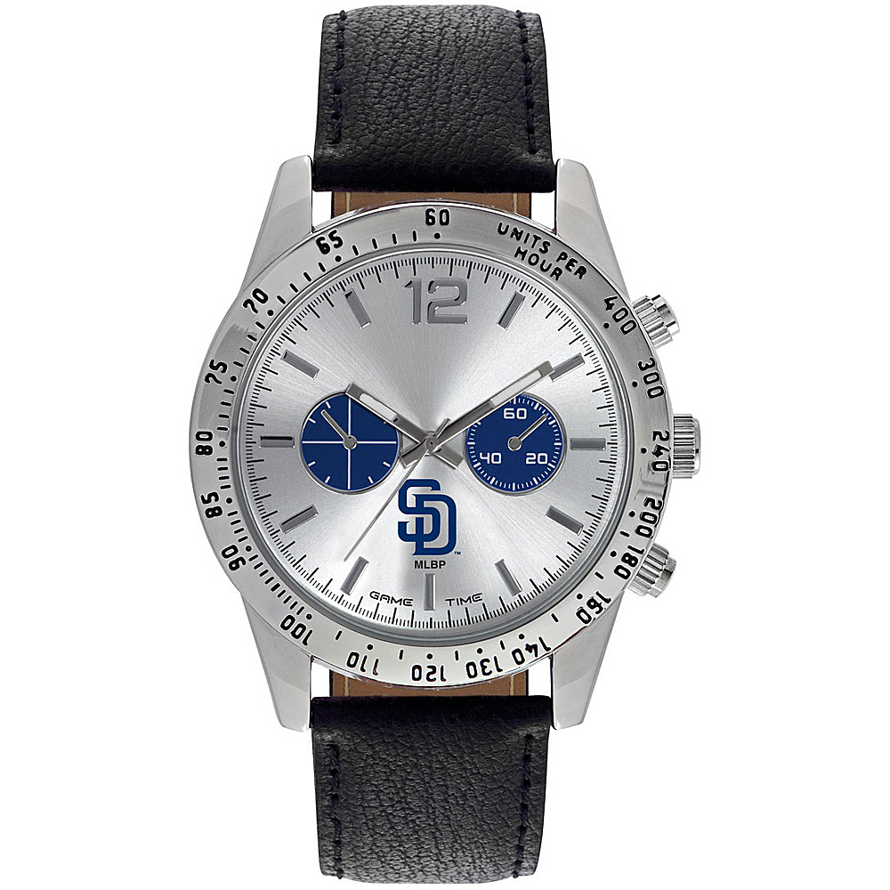 Game Time Mens Letterman-MLB Watch San Diego Padres - Game Time Watches - Fashion Accessories, Watches
