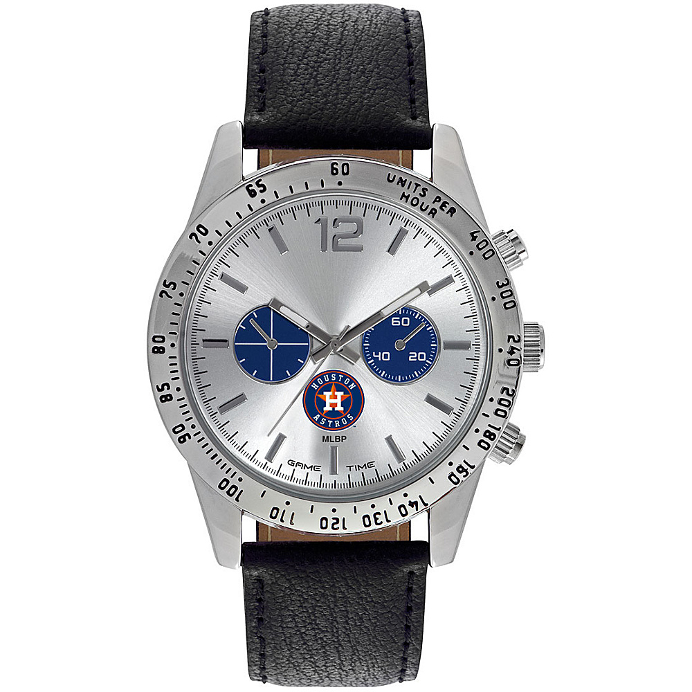 Game Time Mens Letterman-MLB Watch Houston Astros - Game Time Watches - Fashion Accessories, Watches