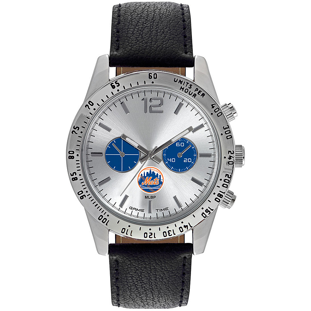 Game Time Mens Letterman-MLB Watch New York Mets - Game Time Watches - Fashion Accessories, Watches