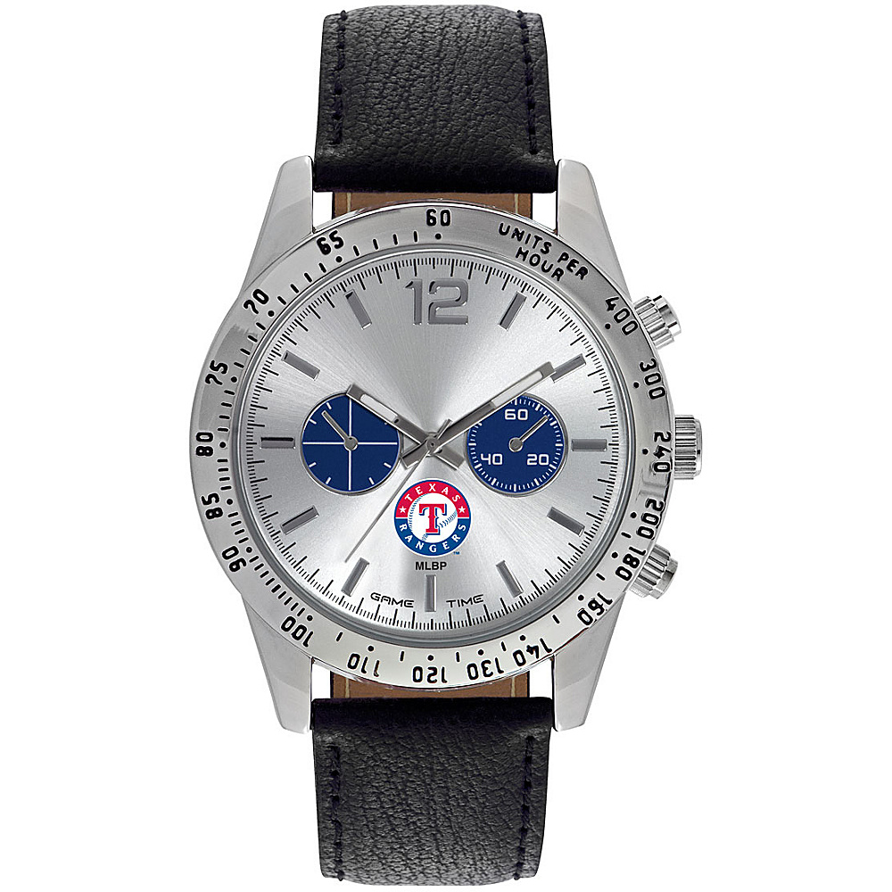 Game Time Mens Letterman-MLB Watch Texas Rangers - Game Time Watches - Fashion Accessories, Watches