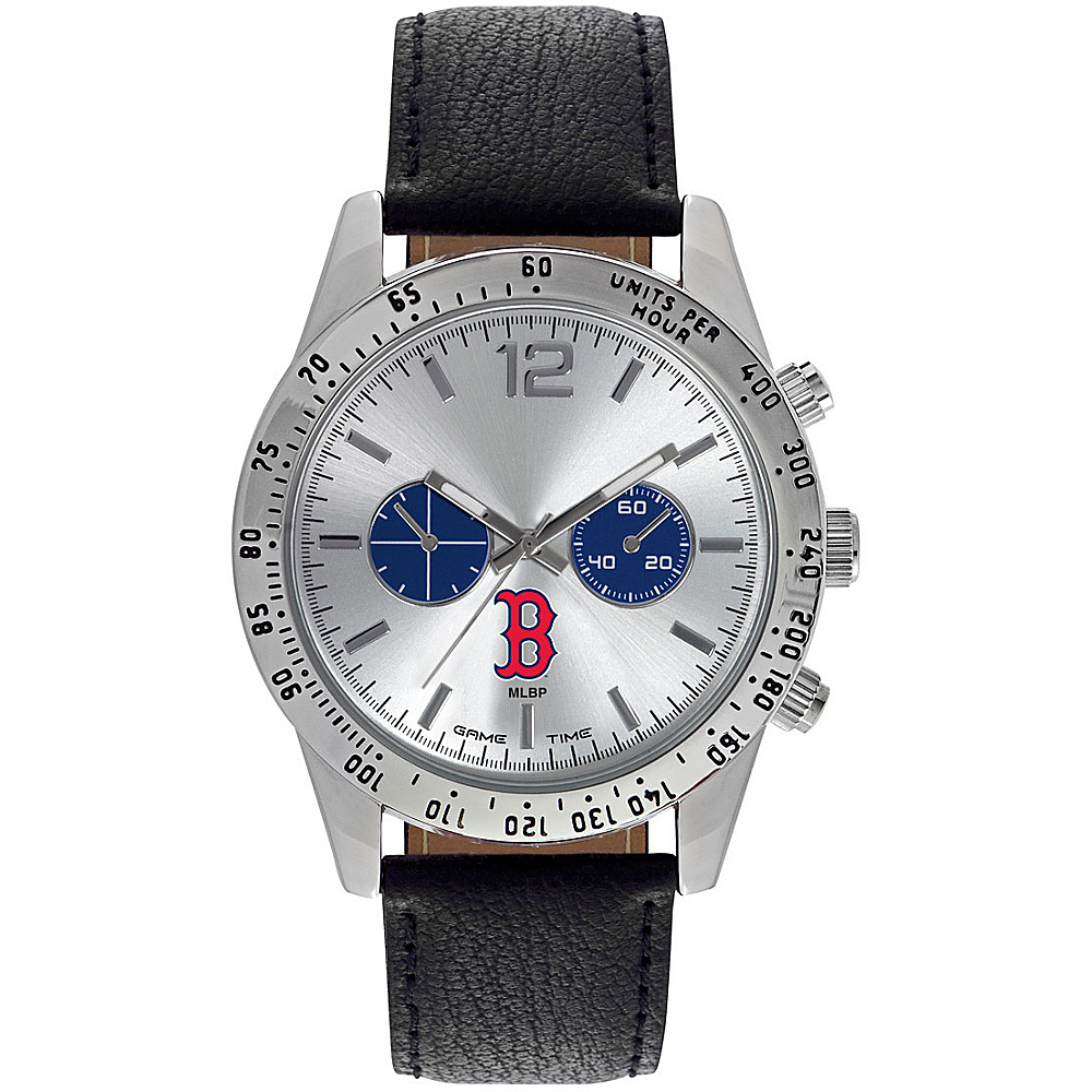 Game Time Mens Letterman-MLB Watch Boston Red Sox B Logo - Game Time Watches - Fashion Accessories, Watches