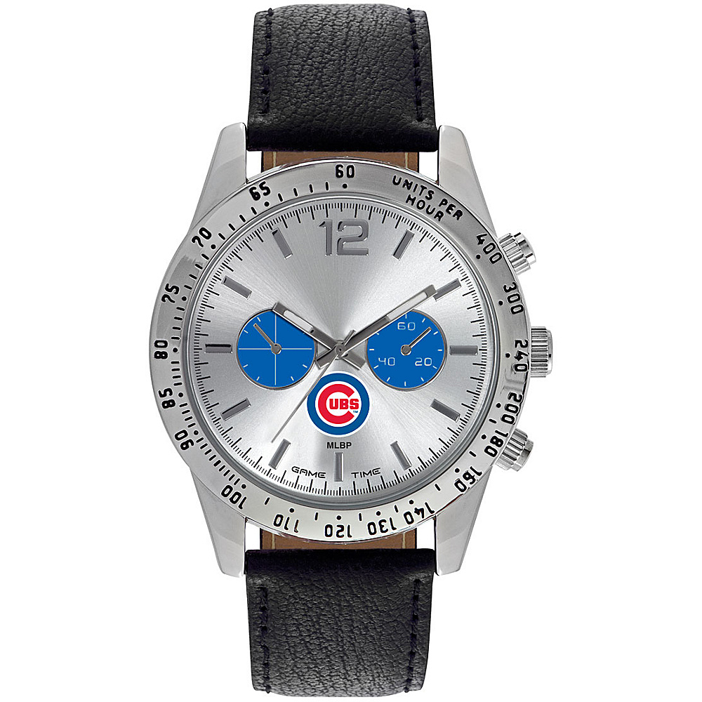 Game Time Mens Letterman-MLB Watch Chicago Cubs - Game Time Watches - Fashion Accessories, Watches
