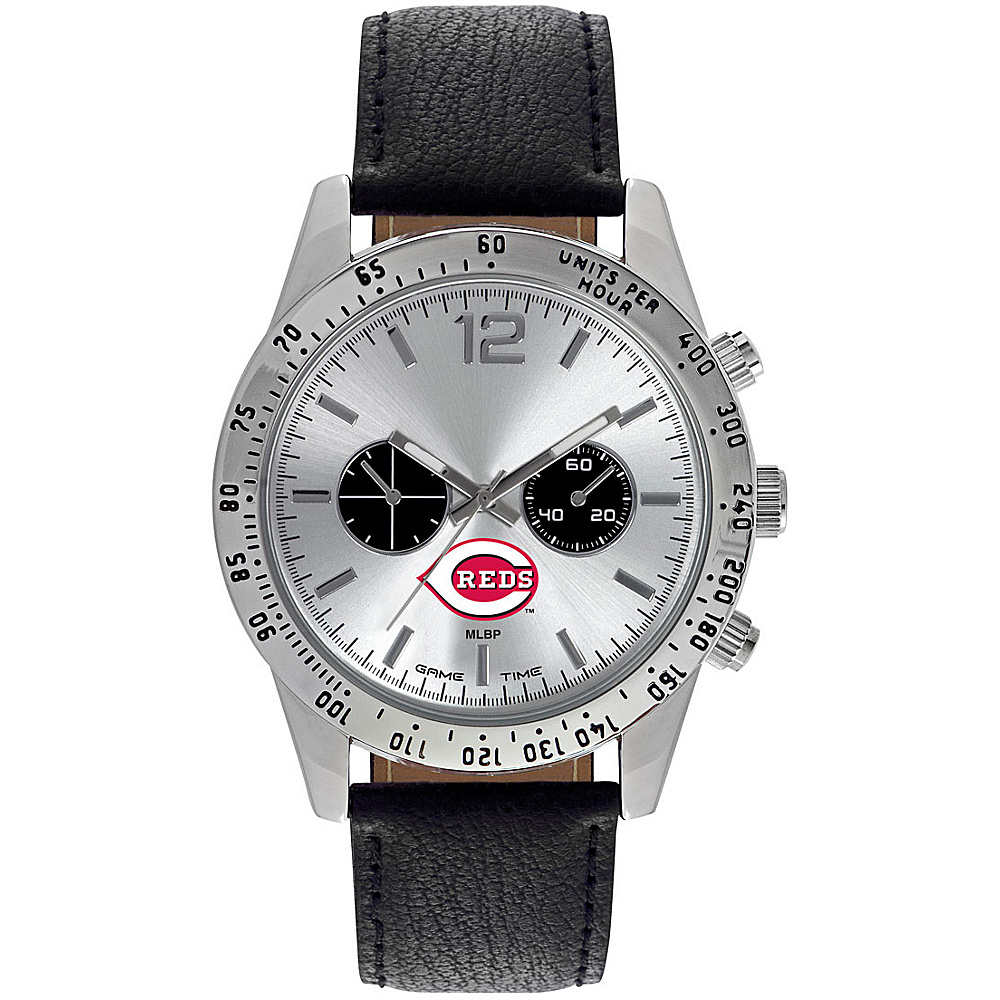 Game Time Mens Letterman-MLB Watch Cincinnati Reds - Game Time Watches - Fashion Accessories, Watches