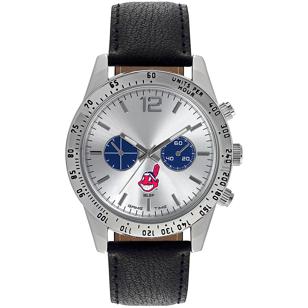 Game Time Mens Letterman-MLB Watch Cleveland Indians - Game Time Watches - Fashion Accessories, Watches