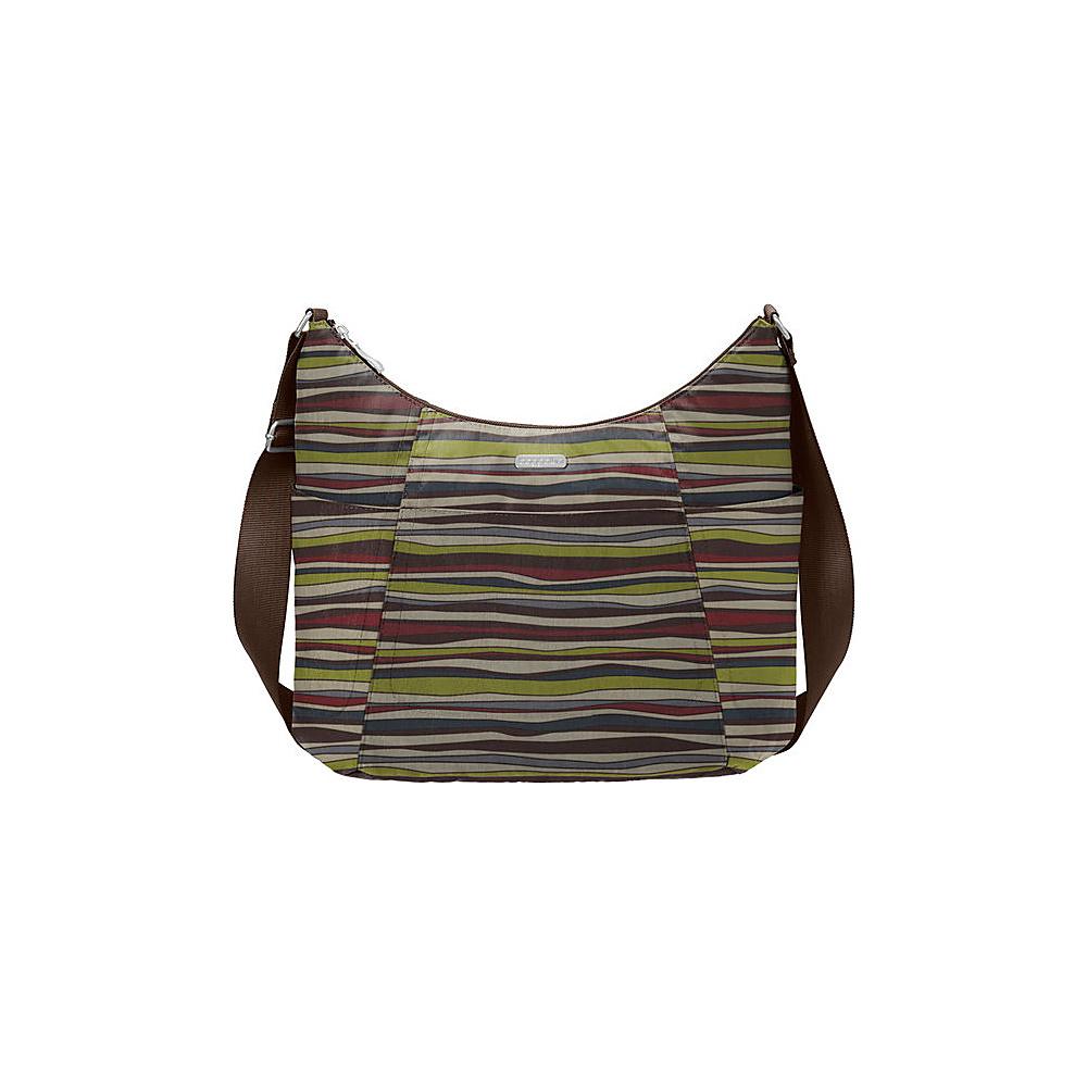 baggallini Hobo Tote - Retired Colors Java Stripe - baggallini Fabric Handbags