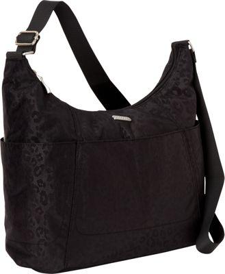 baggallini Hobo Tote - Retired Colors Black Cheetah Emboss - baggallini Fabric Handbags