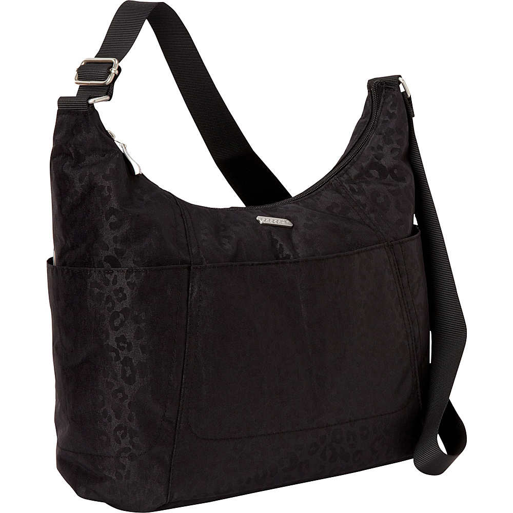 baggallini Hobo Tote - Retired Colors Black Cheetah Emboss - baggallini Fabric Handbags