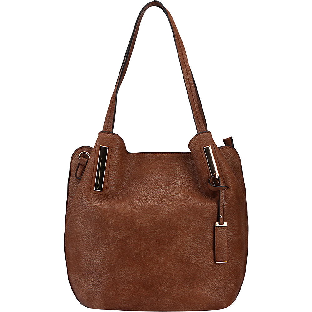 MKF Collection Chatty Is an Elegant Shoulder Tote Camel - MKF Collection Manmade Handbags - Handbags, Manmade Handbags